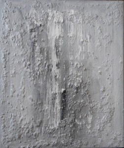 Stefan513593 - abstract ground - #1 (acrylic, cat litter on board 70x50cm)