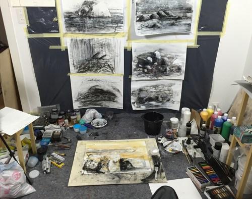 SJSchaffeld - Work in studio - Drawing 1