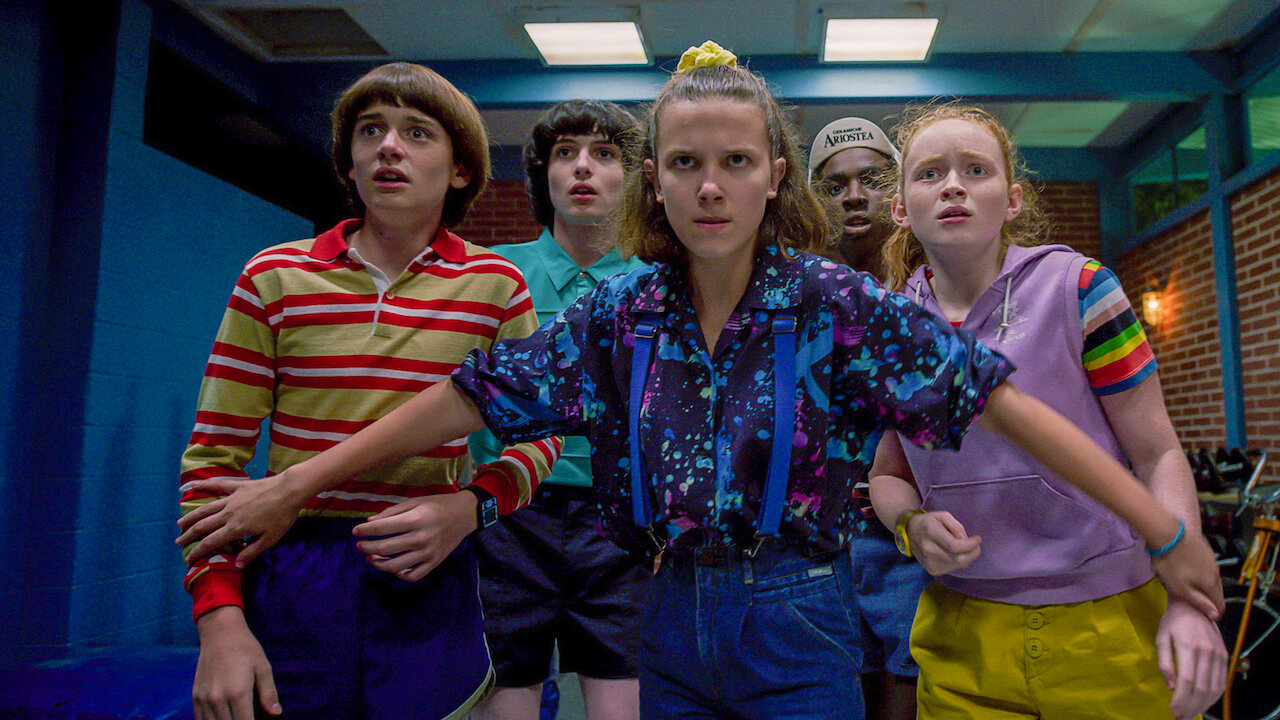 stranger things cast in 80s outfits