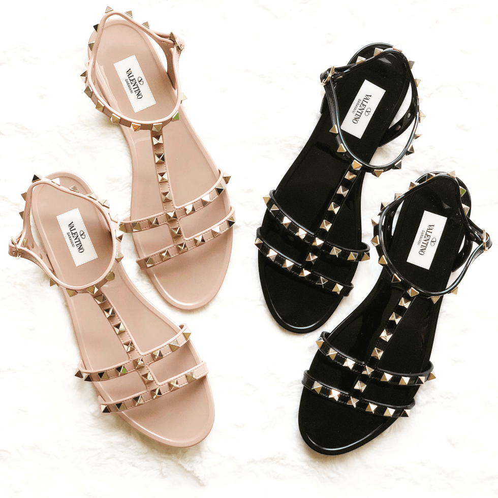 4cc55ef508a8 Valentino Rockstud PVC Flat Sandals - Occasionally Luxe