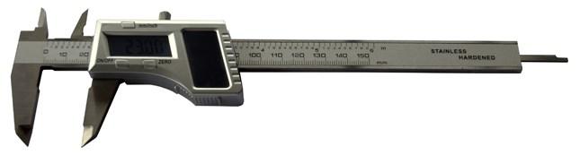 [:pt]Paquimetro digital com célula solar 150mm INOX[:]