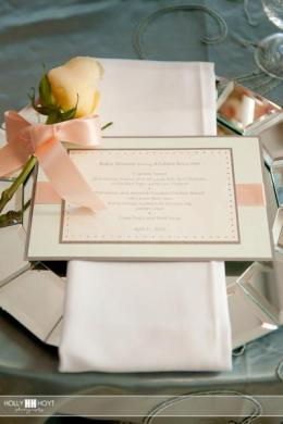 Chic baby shower_menu card