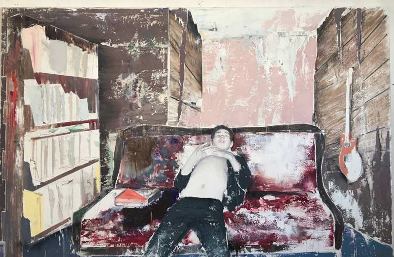 Alexander Tinei, To be a poem, 2017, 200x300 cm, huile sur toile. Courtesy Galerie Dukan.