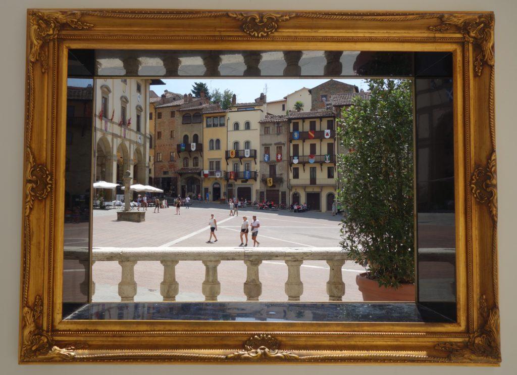 La ville d'Arezzo en Toscane