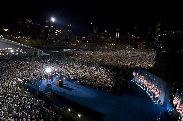 Grant Park, Obama Victory Celebration, 2008