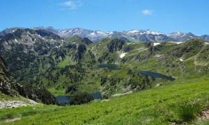 Ariège - Étang bleu et étang noir - Pic de Tarbesou