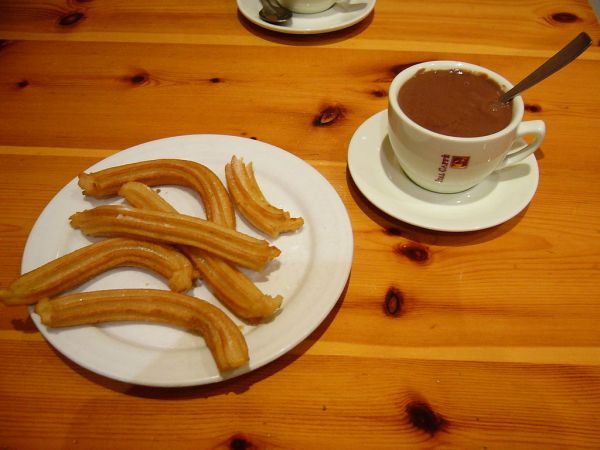 Churros typical to Spanish Breakfast