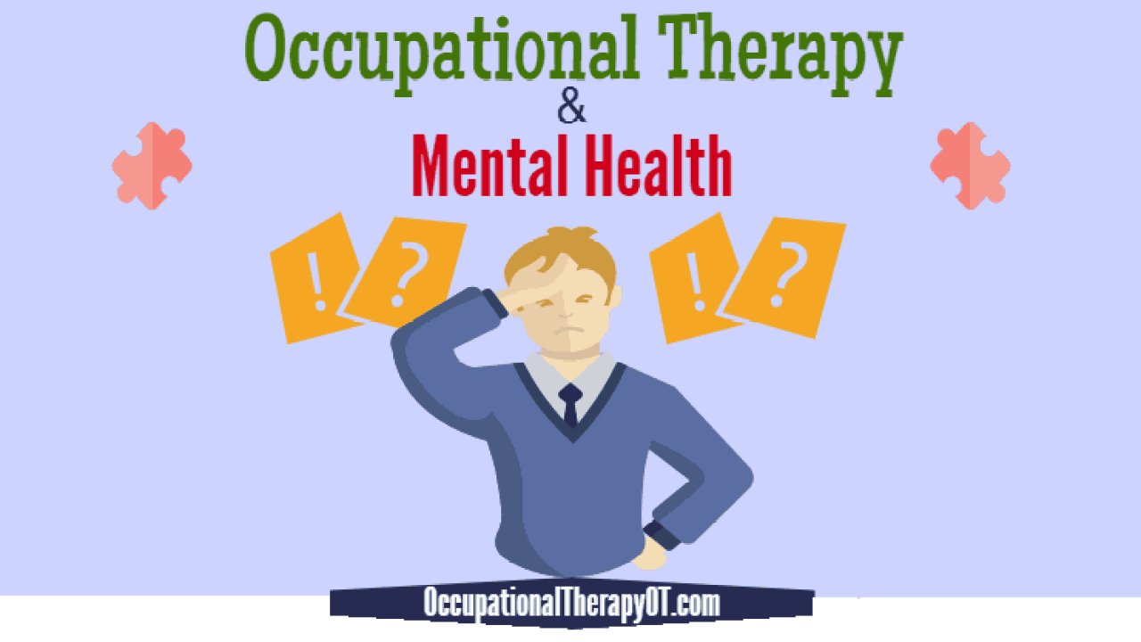Occupational Therapy In Mental Health Assessment Intervention Ot