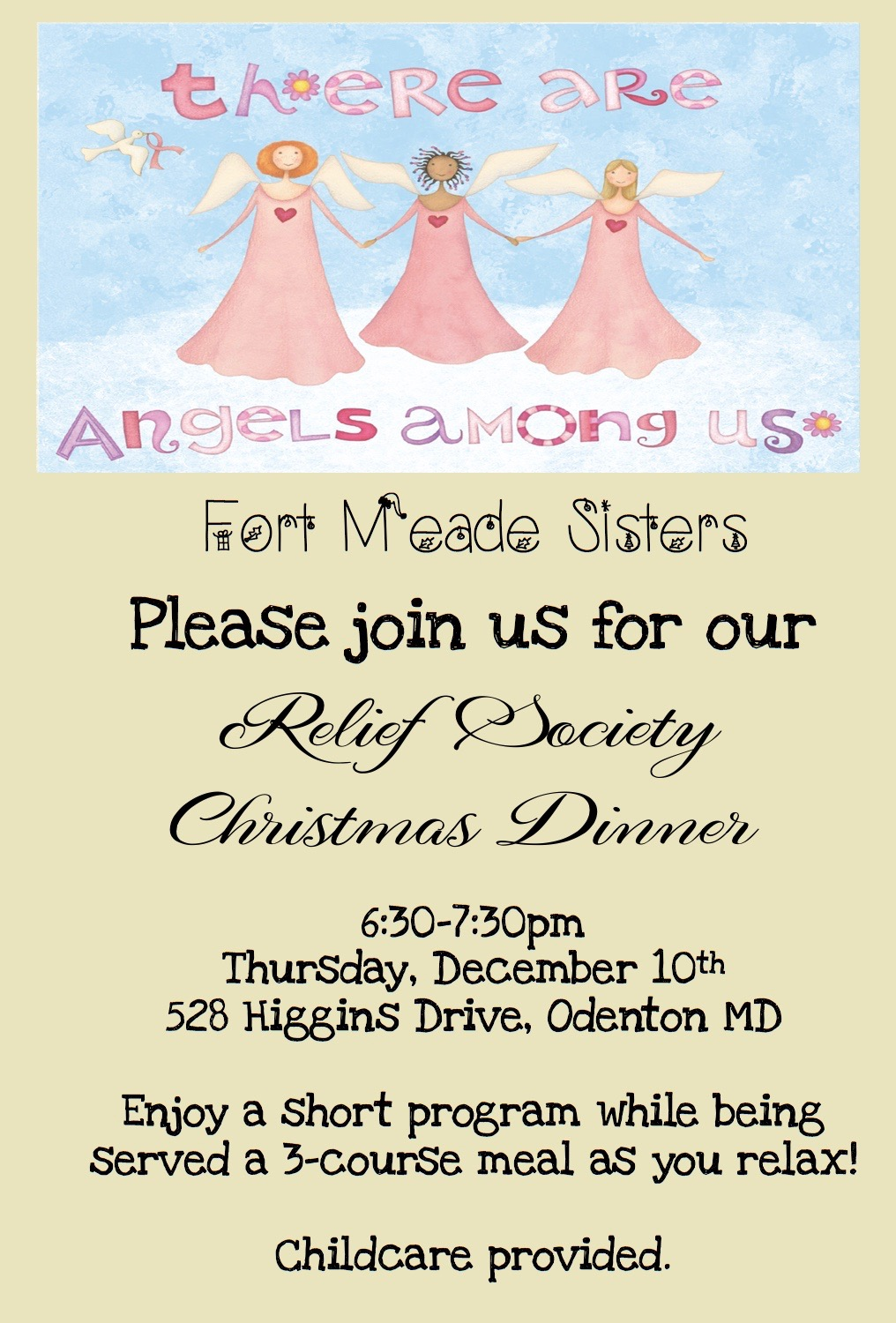 Angels Among Us Relief Society Christmas Dinner