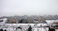 Jan 10 2013 Blanket of snow covers Ramallah - Photo by WAFA