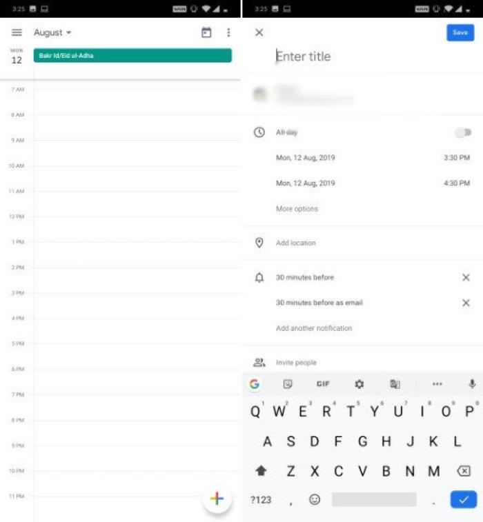 Ứng dụng học tập Google Calender