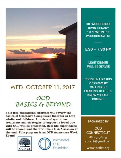 OCD Basics & Beyond-Woodbridge, CT Oct. 11, 2017