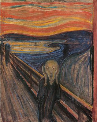 The Scream by Edvard Munch powerfully portrays the angst I oftentimes feel inside.