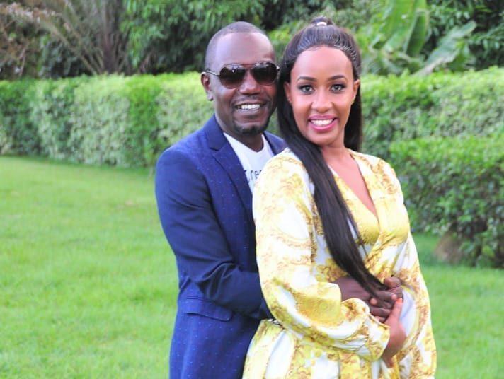 File image of Victor Ber with his wife, Teacher Wanjiku