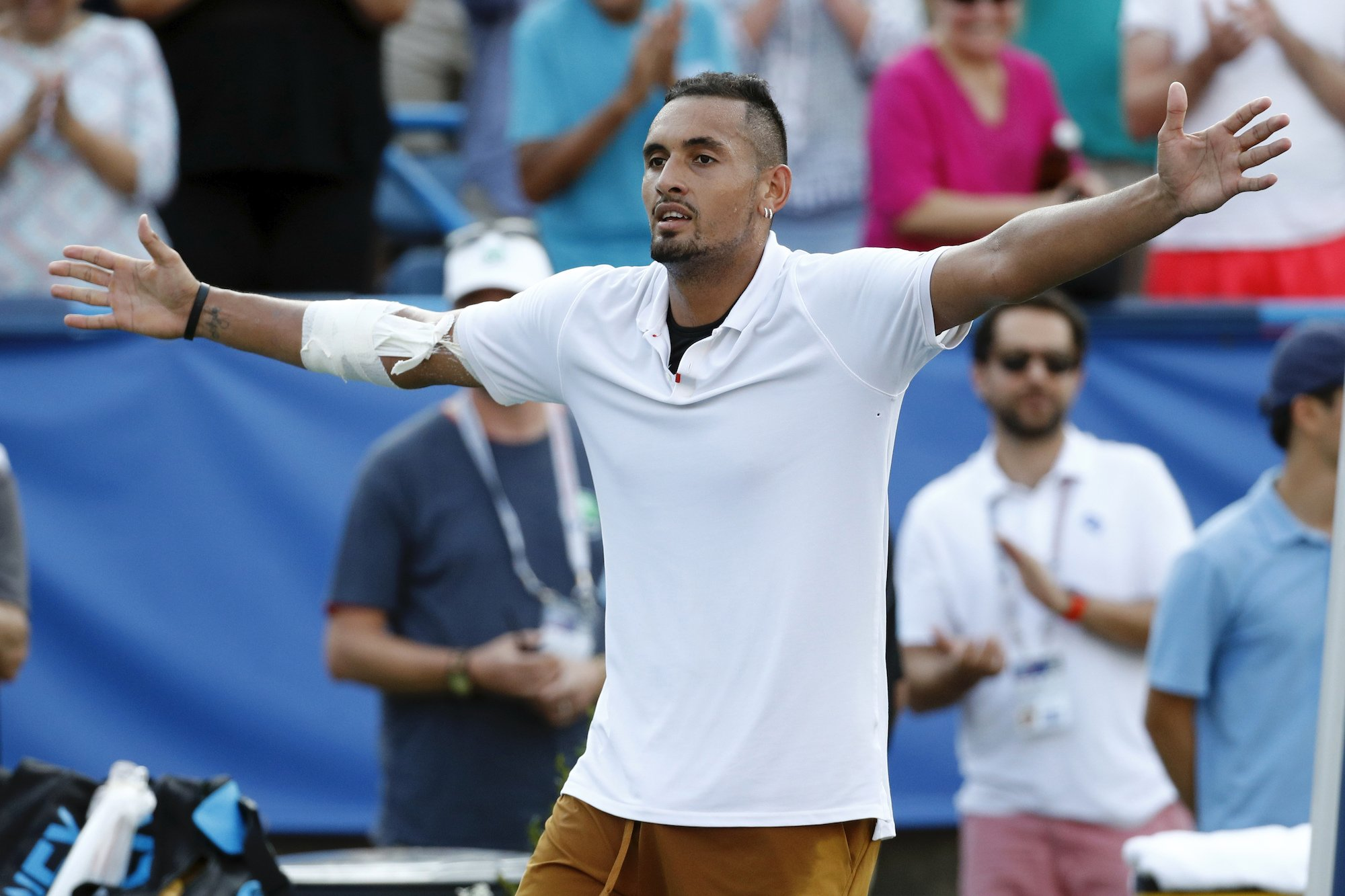 (reuters) Tennis Player Nick Kyrgios Once Again Showed His Compassionate Side On Monday, Pledging To Help Hungry People And Drop Off Food At Doorstep For Those In Need During The Coronavirus Pandemic