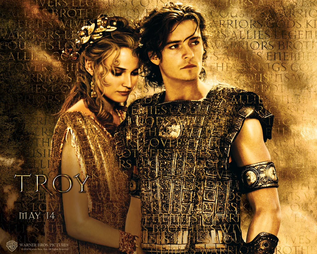 Helen and Paris of Troy portrayed by Orlando Bloom and Diane Kruger in the movie 'Troy' [Credit - LegendLoveStory]