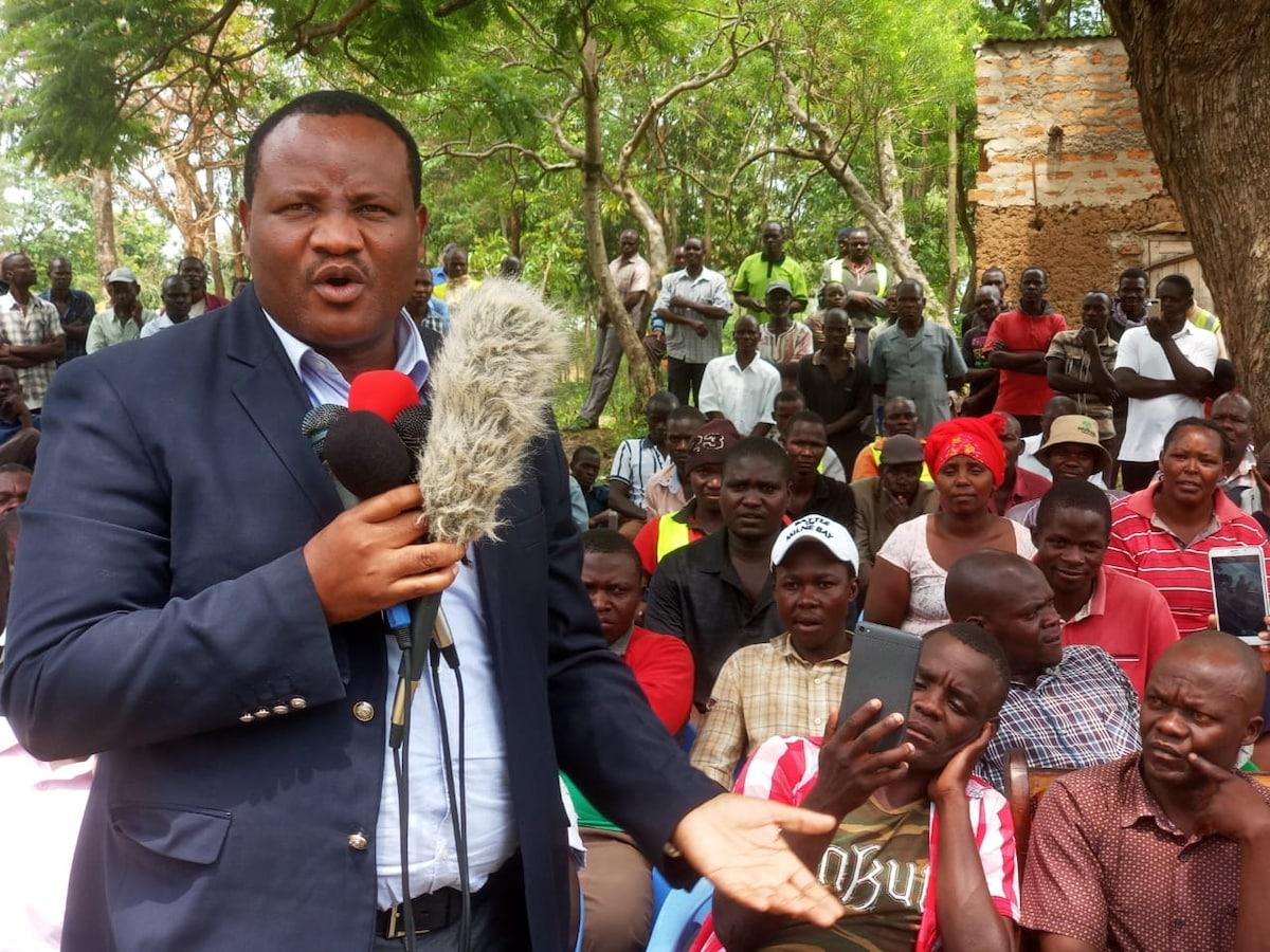 Bumula MP Moses Mwambu Mabonga during a past public function