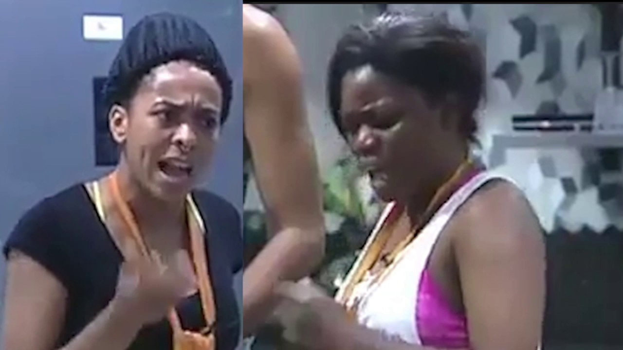 T-boss and Bisola having a fight [YouTube/Big Brother Naija]