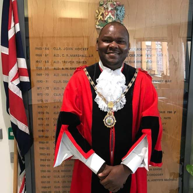Image result for Ernest Ezeajughi first black mayor Brent