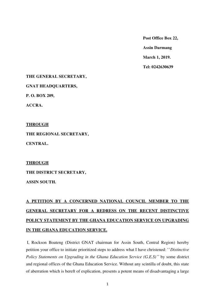 GNAT petition