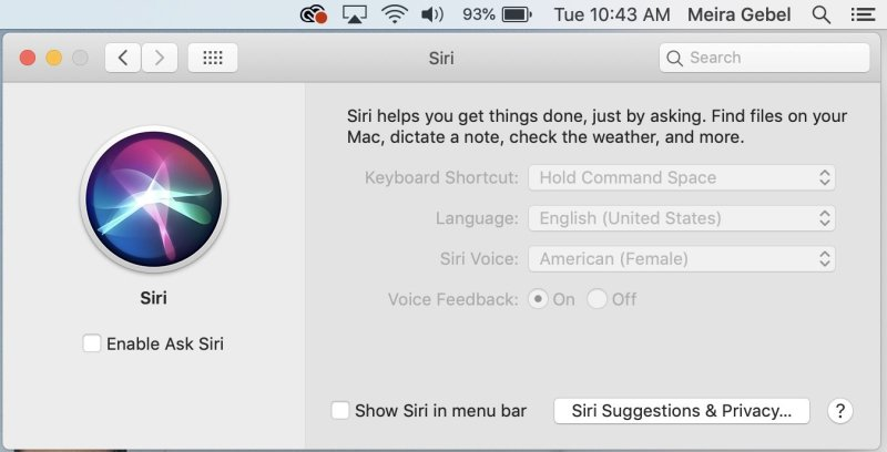 How to disable Siri on Mac