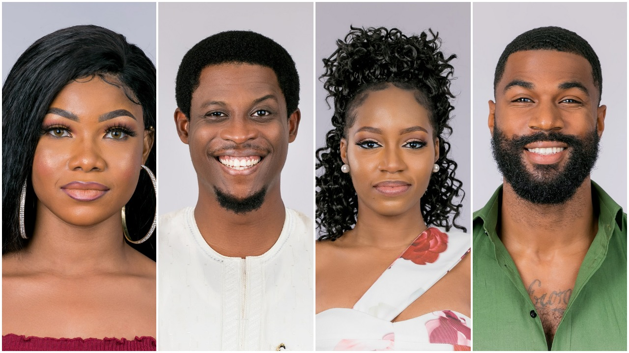 Housemates Mercy Frodd Diane Cindy Ike Omashola Mike