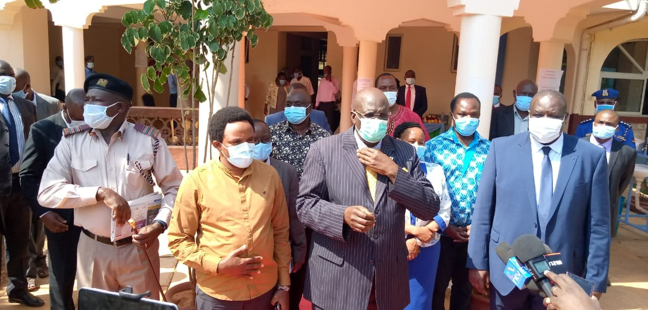 Education CS George Magoha with CAS Zack Kinuthia during a recent official tour