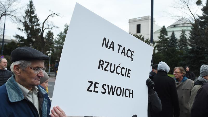 WARSZAWA SEJM PROTEST ŚWIĄTYNIA OPATRZNOŚCI Z BUDŻETU  (Protest)