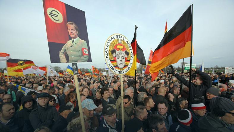 Protest Pegidy w Dreźnie