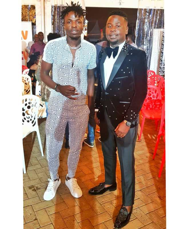 Jabidii and Timeless Noel at the 2019 Pulse Music Video Awards (PMVA)