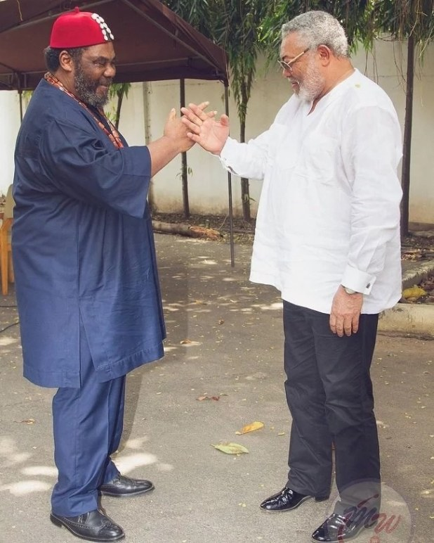 Pete Edochie and J.J Rawlings