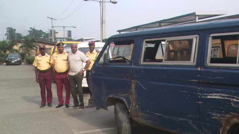 The Lagos State Traffic Management Authority (lastma) On Thursday Impounded 15 Vehicles In The Ikeja Area Of Lagos For Violating The Lockdown Order Of President Muhammadu Buhari To Curb The Spread Of