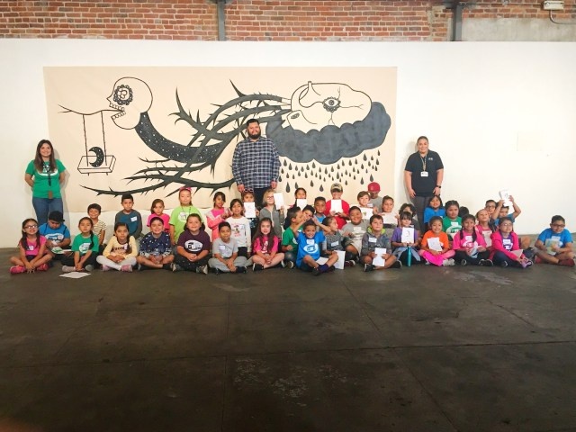 Dino Perez presents Coloring with the Community event at OCEAA - oceaa.org