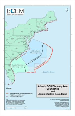 Atlantic OCS Planning Area Boundaries