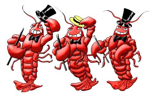dancing lobsters