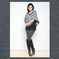 Ocean Avenue Light Grey Wool Poncho