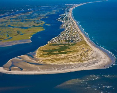 Barrier islands commonly are home to communities and tourism. Credit: Betsy C Knapp