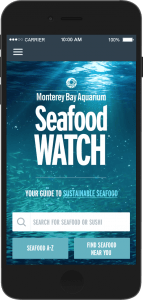 Seafood watch app from Monterey Bay Aquarium can help you make healthier and more sustainable seafood choices