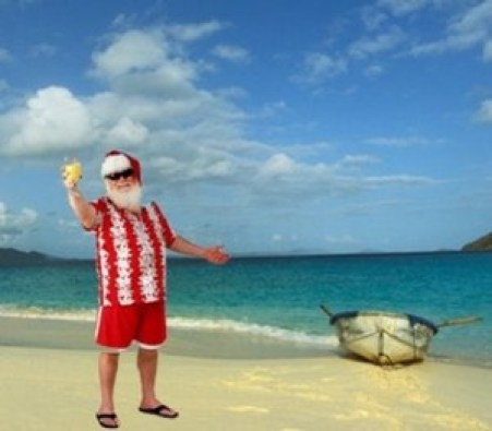 Figure 8. Santa in paradise (Source: hubpages.com)