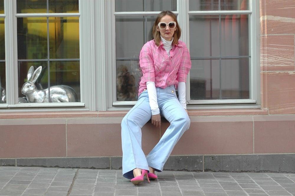 bluse-kariert_rosa_Victoria-Beckham_jeans_baum-pferdgarten_chichino_jacke_mode-blog_oceanblue-style.jpg