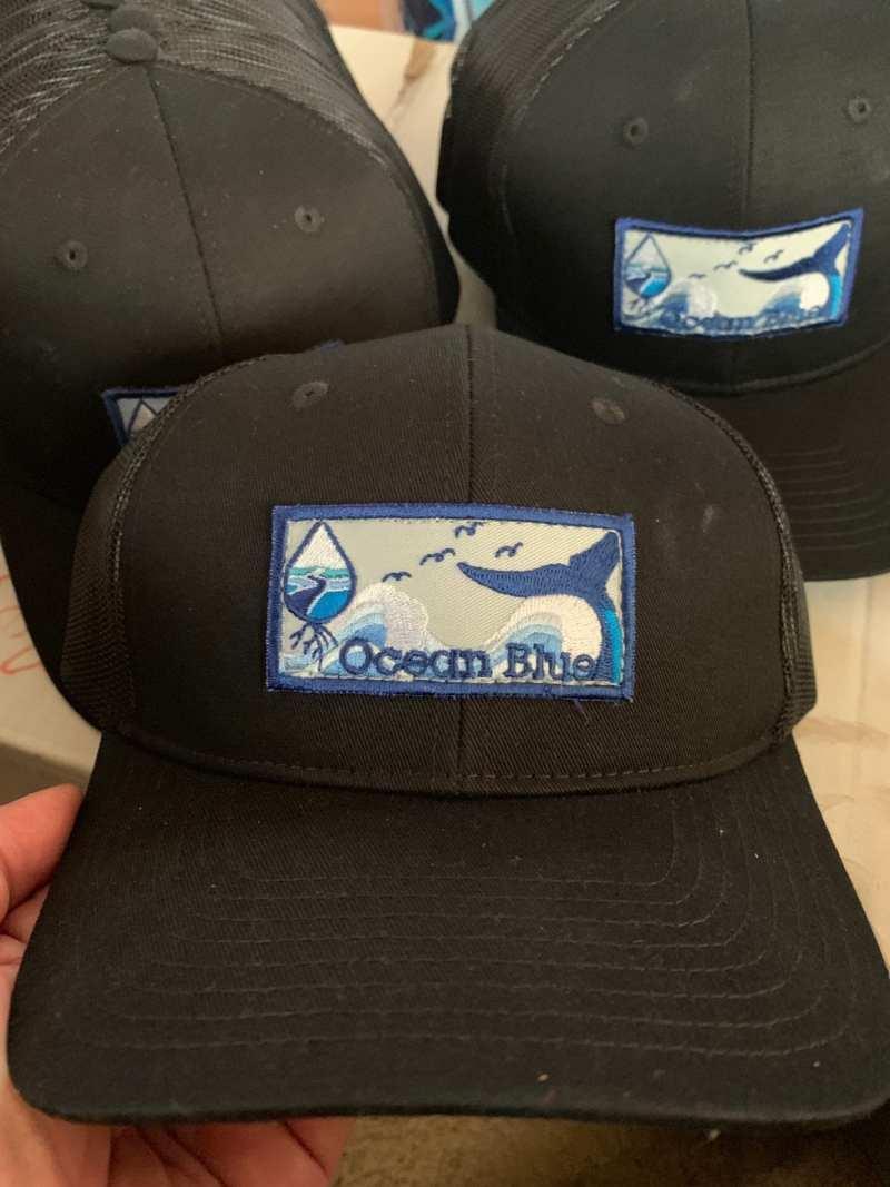 Ocean Blue Project logo hats handmade