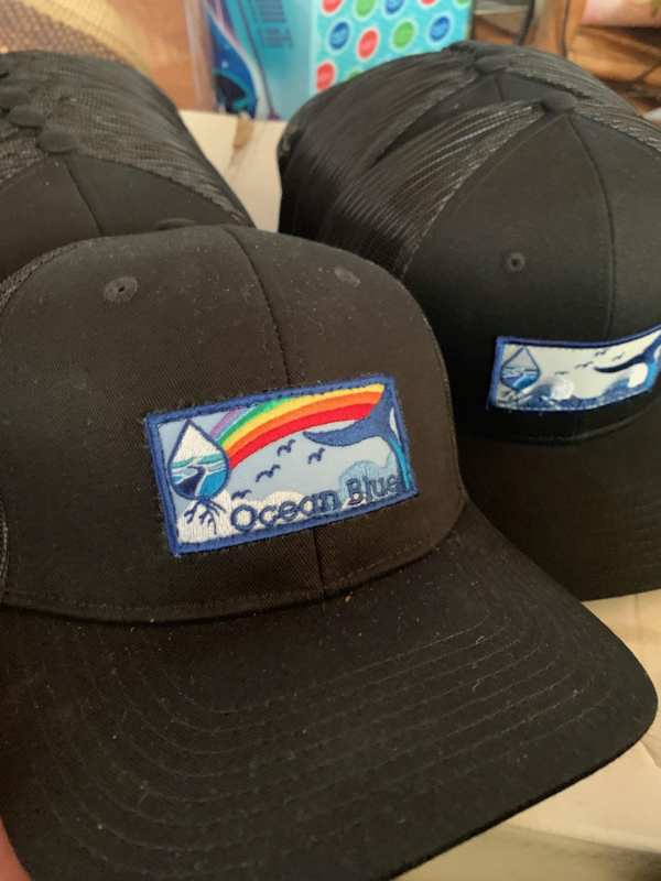 Ocean Blue Project logo hats handmade