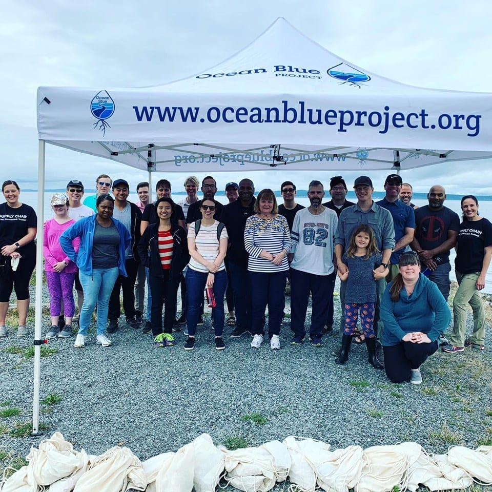Ocean blue volunteers