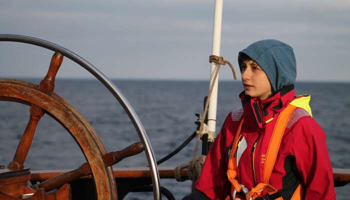 Elly auf dem Schiff