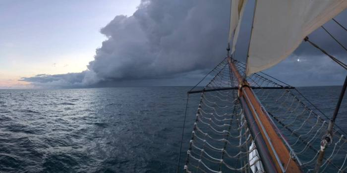 Wolken auf dem Ozean