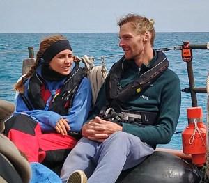 Lilly und Jens auf dem Segelschiff