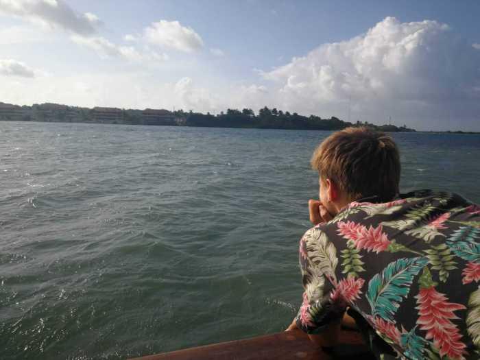 Aussicht vom Schiff nach Panama