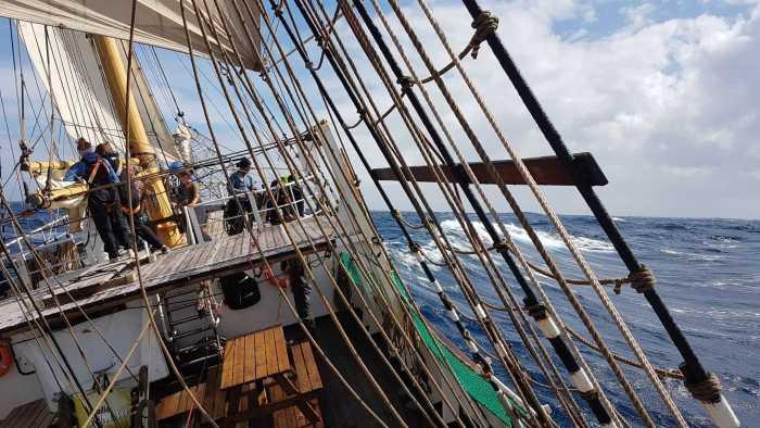 Segelschiff im Wind