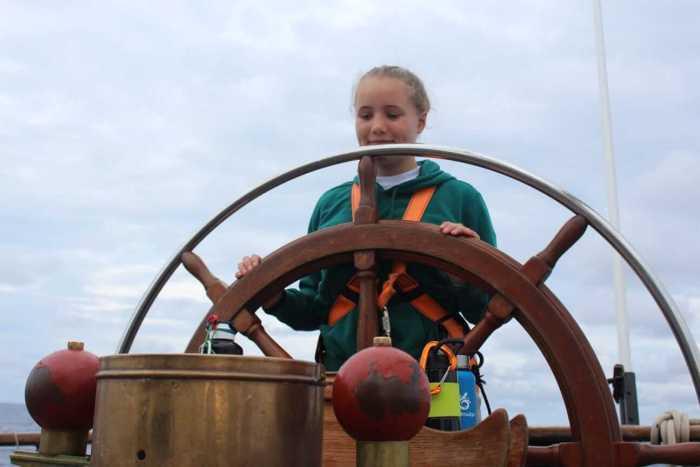 Silja on the helm