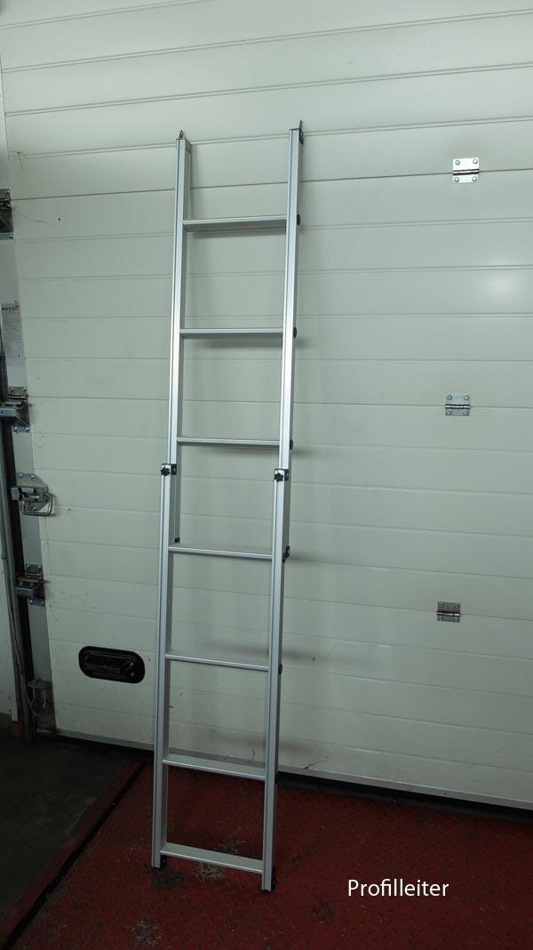 Aluminium daktent ladder